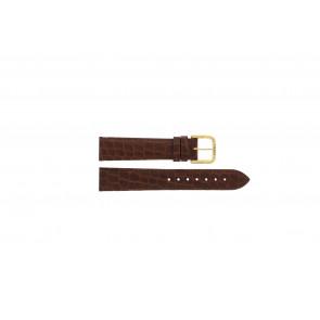 Tissot horlogeband 970-122 T870 - T600013060 Croco leder Bruin 18mm