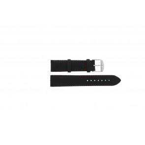 Tissot horlogeband T049.417 - T600031360 / T038.430 / T049.410 / T033.410 / T71.3.633 / T71.3.623 / T033.423 Leder Zwart 19mm + rood stiksel