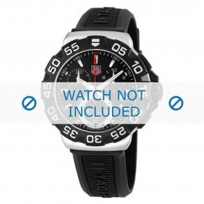 Horlogeband Tag Heuer BT0714 Rubber Zwart 20mm