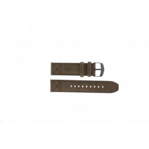 Timex horlogeband T49986 Leder Bruin 22mm