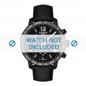 Tissot horlogeband T095.417.36.057.02 - T600035372 Leder Zwart 19mm