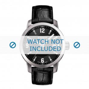 Tissot horlogeband T055.417.A PRC 200 - T610032709  Croco leder Zwart 19mm