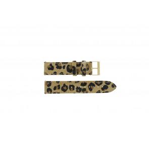 Guess horlogeband W16574L1 Leder Luipaard 20mm