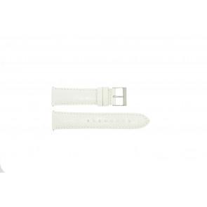 Guess horlogeband W85053G2 / W10558L1 Leder Wit 22mm