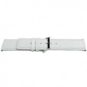 Horlogeband Universeel L505 Leder Wit 30mm