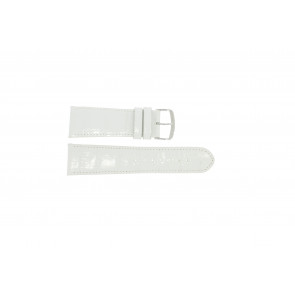 Echt lederen band croco wit WP-61324.36mm