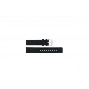 Horlogeband Universeel 21901.10.20 Kunststof/Plastic Zwart 20mm