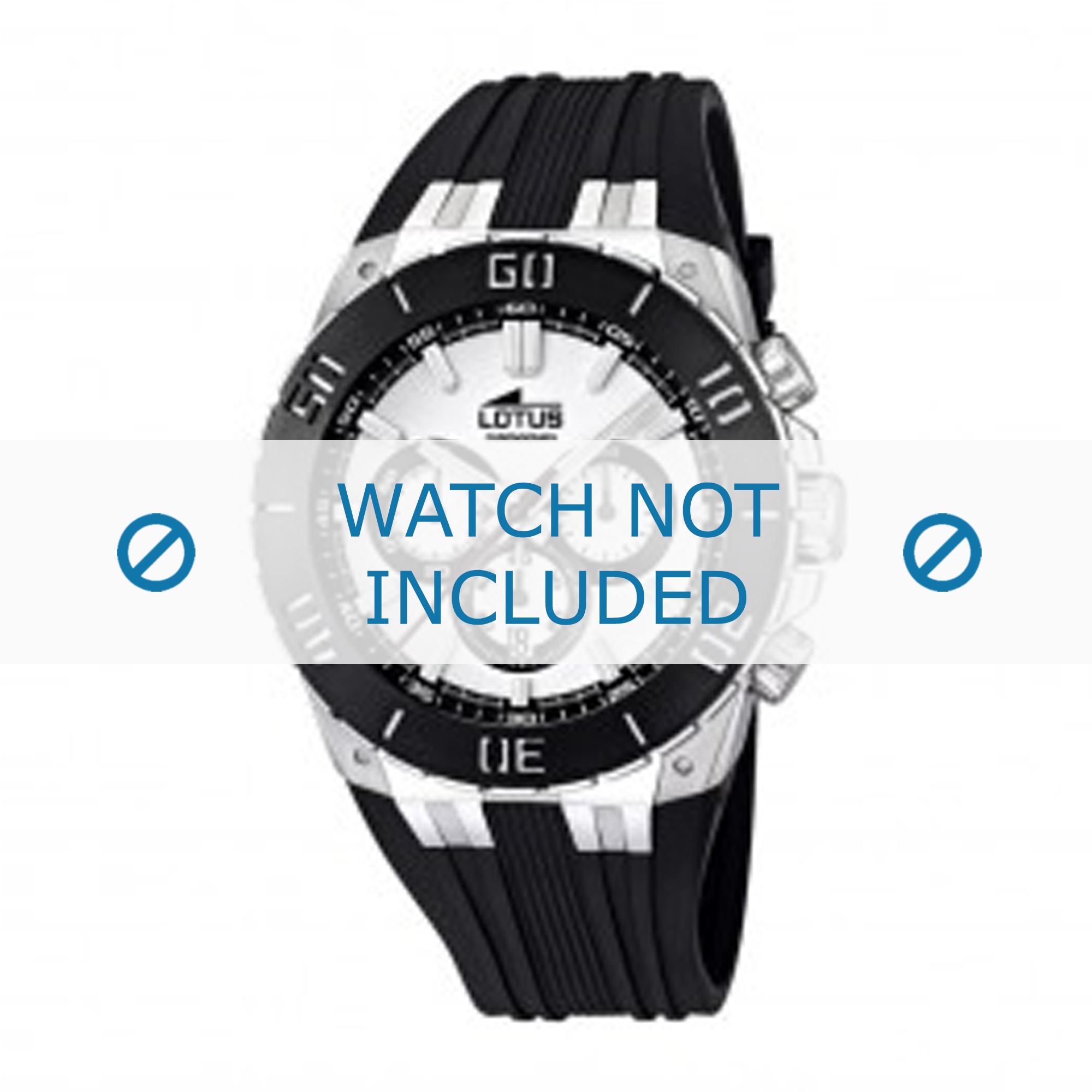 Lotus L15801/1 horlogeband zwart silicoon