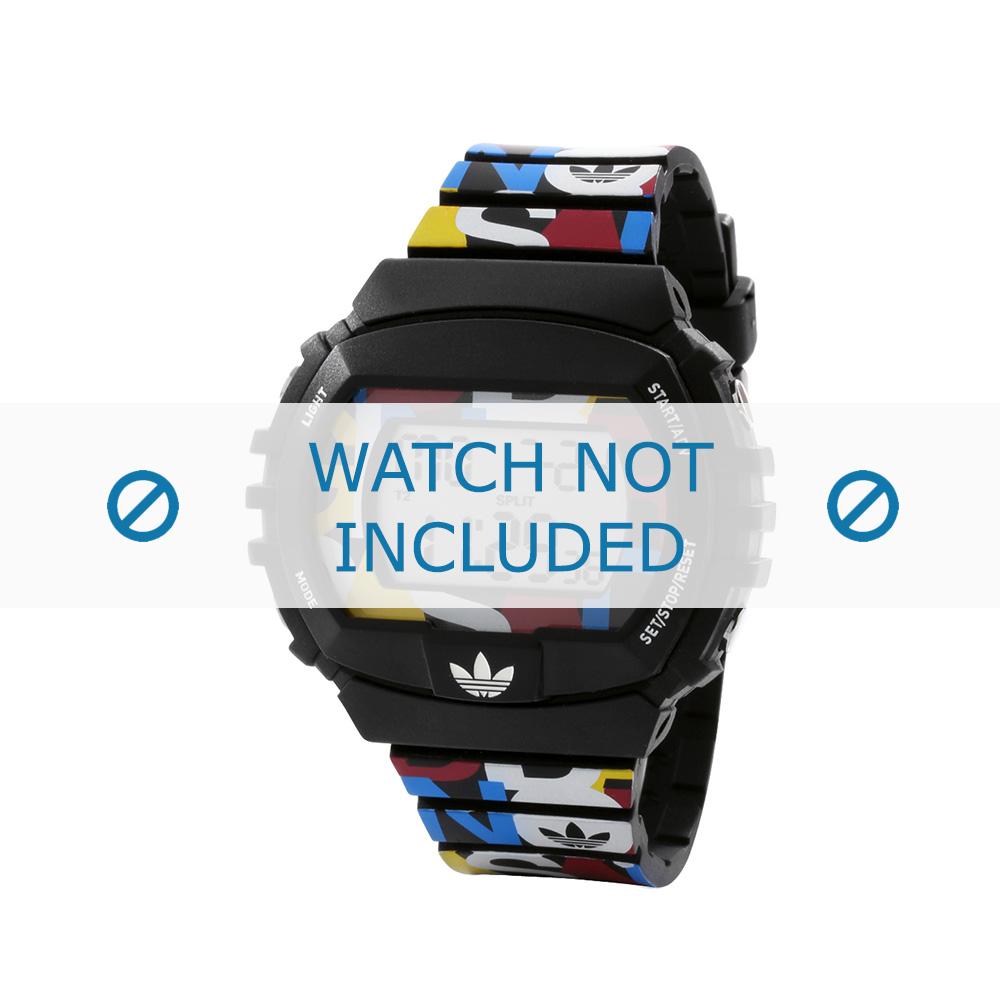 Adidas horlogeband ADH6080 Kunststof Zwart 26mm