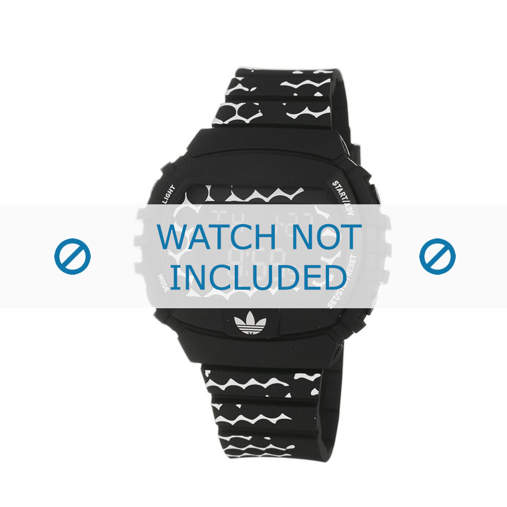 Adidas horlogeband ADH6118 Rubber Zwart 22mm