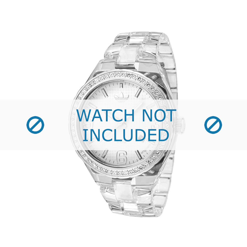 Adidas horlogeband ADH2506 Kunststof Wit 22mm