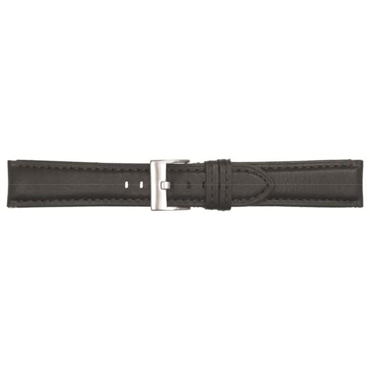 Poletto horlogeband leder zwart 22mm 540