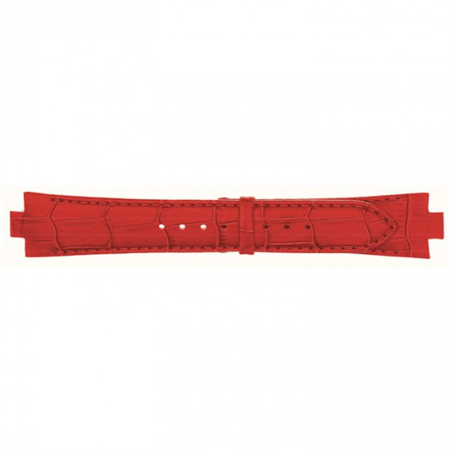 Lederen horlogeband 10mm rood 868U